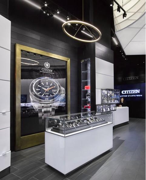 Luxury Wooden Watch Shop Display Design