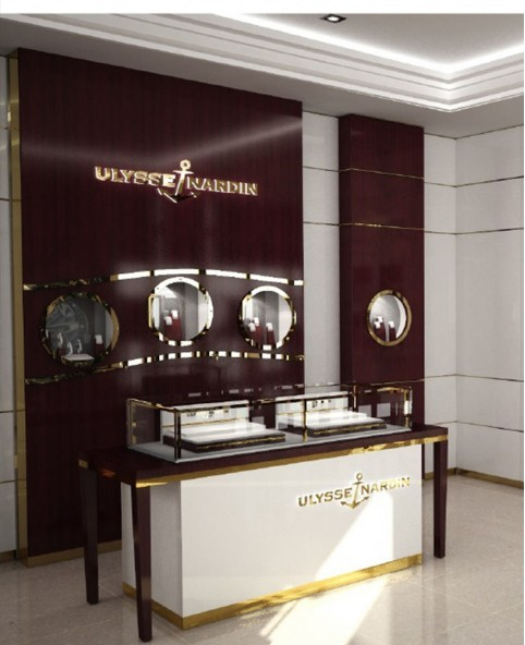 Luxury Retail Wooden Watch Store Display Cabinet