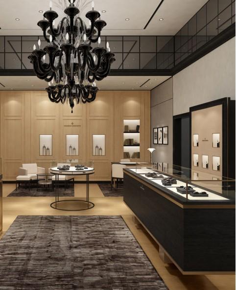 Luxury Retail Wooden Watch Shop Display Showcase